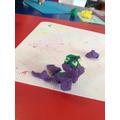 Keva made a plastercine seal