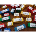 Label and build with you word bricks.