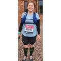 Mrs Brammer at the start of her marathon.