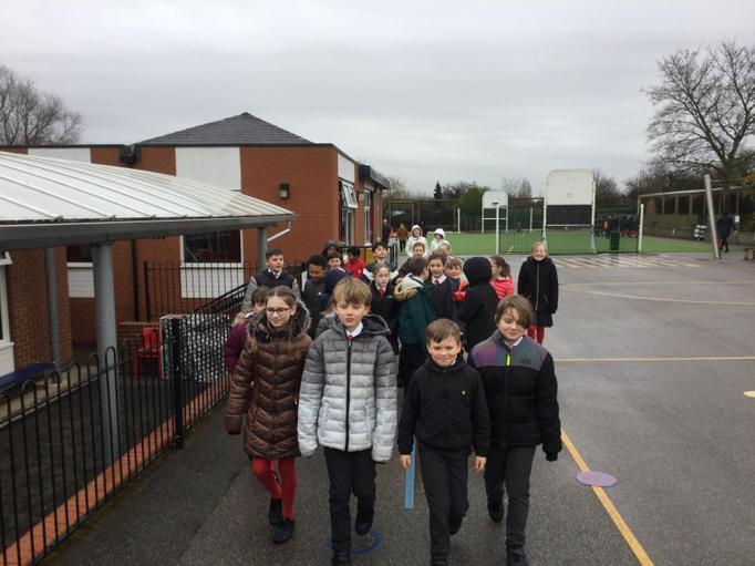 Year 5 - Even when raining, they still walked