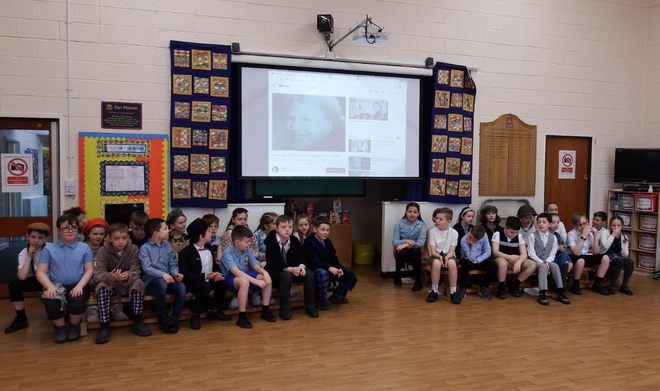 We shared World War Two memories, in our assembly.