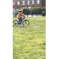 Riding my bike