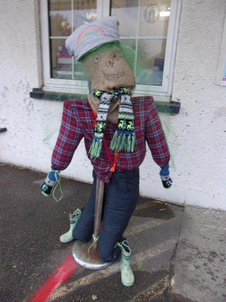 We have been making a scarecrow. His name is Tattybogle