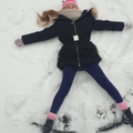 Sinead making snow angels