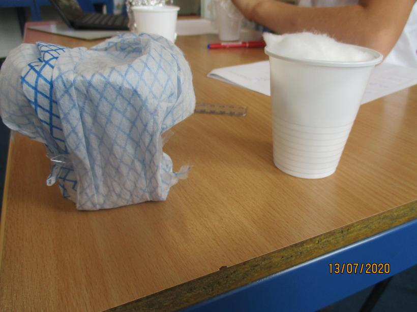 I decided to wrap my cups on the outside.