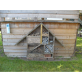 Year R bug hotel has so many bugs living in it now.