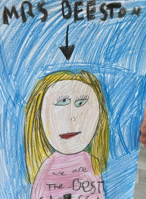A wonderful picture of me from one of my current Year 3s!