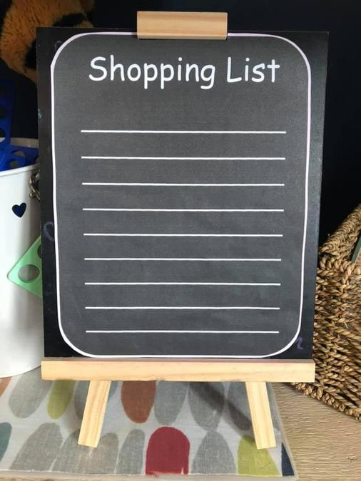 Can you write a shopping list?