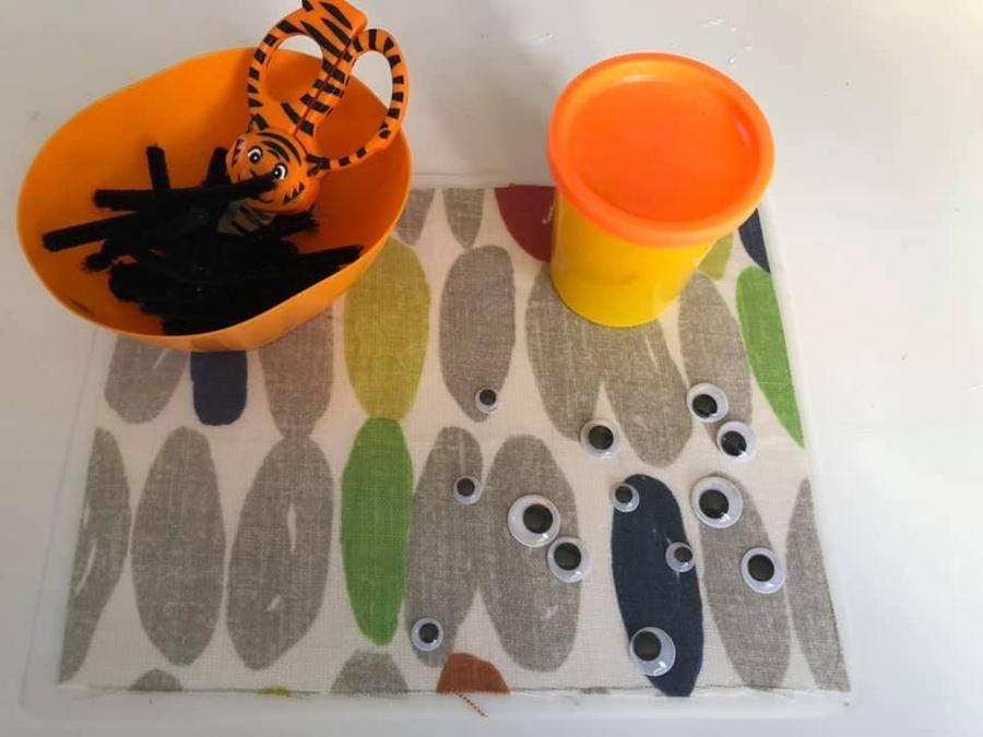 Can you make a play dough or clay tiger?