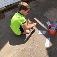 Chunky Chalk Writing...