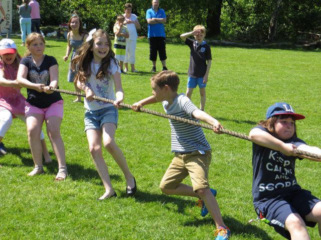Tug of War fun at the Summer Fayre