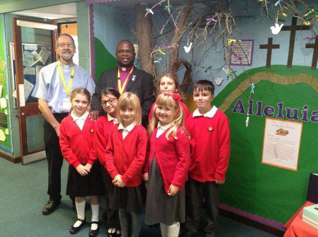 Bishop Brighton visited us from Africa