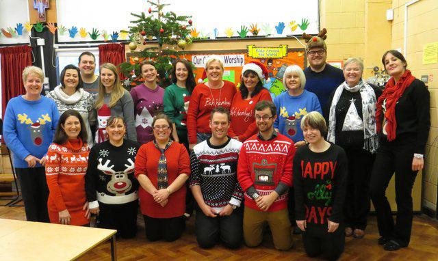 Staff christmas jumper day_