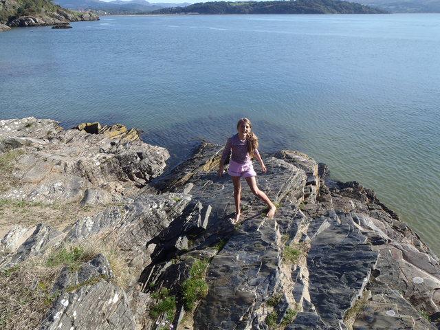 Snowdonia. Elan enjoying the sunshine.