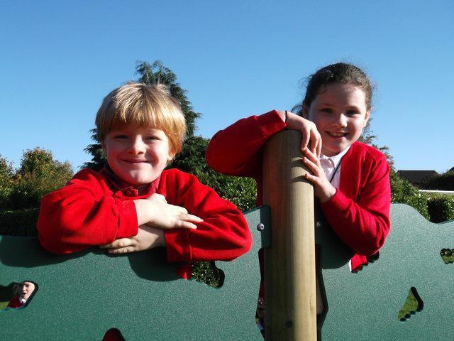 Charlie and Megan climbing high!