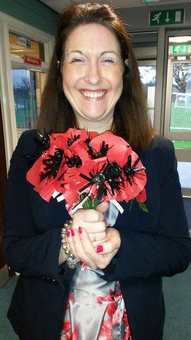 11th of November. Poppies made by the children