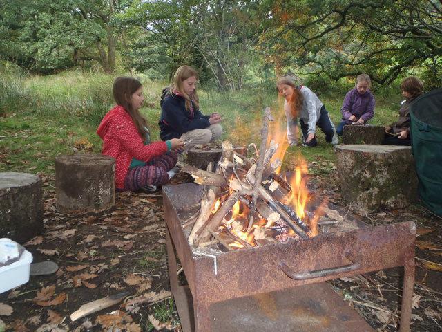 Snowdonia. Campfire warmth.