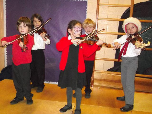 Violins at our Christmas Fayre
