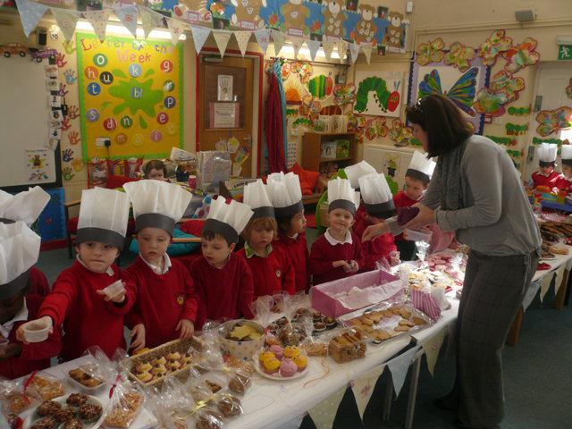 Nursery cake sale