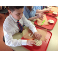 Year 6 - Adding our individual pie decorations