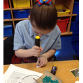 Year 4 - Using tools to connect the torch components