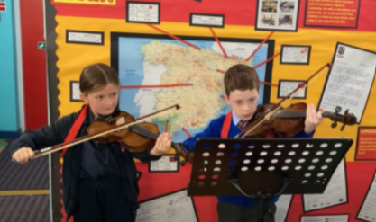 Performing in our violin lessons