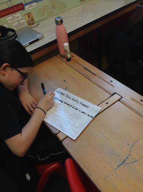 Writing down the instruments we can hear