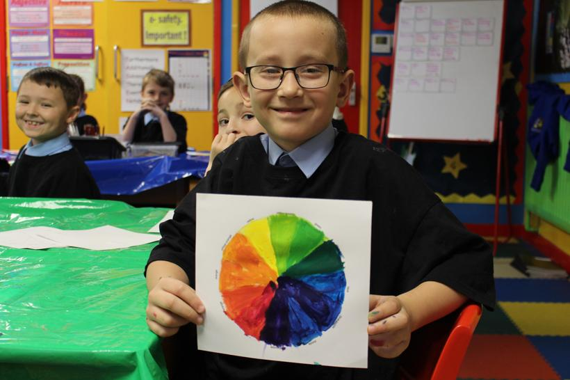 An independently made colour wheel!