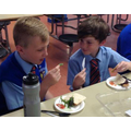 Year 5 - Tasting and evaluating our completed hot wraps