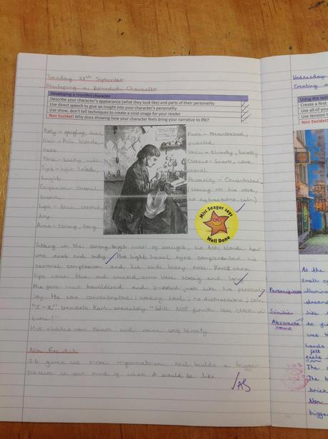 Writing a rounded description of the protagonist from our class novel; 'Clockwork.'