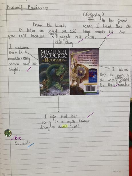 Making predictions and inferences based on book covers and blurbs