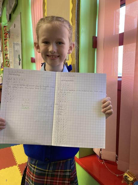 Some excellent independent mental maths!