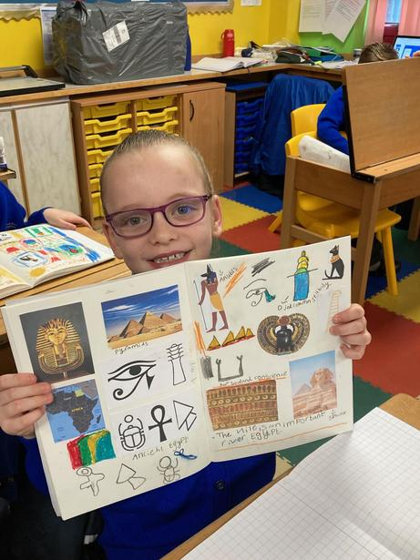 A double page spread of our Egyptian Artwork