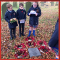 Reading remembrance poems at VC Memorial site