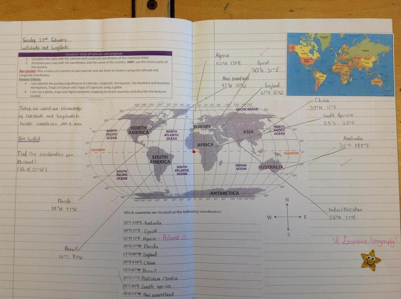 Locating Countries using Latitude and Longitude