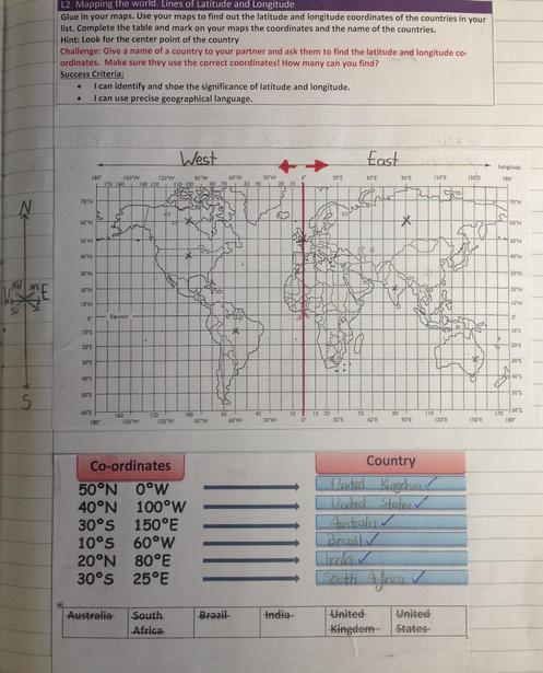 Finding latitude and longitude coordinates