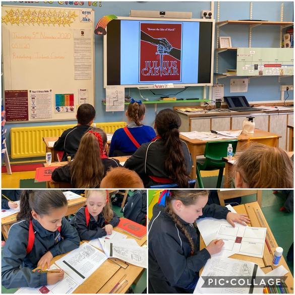 Reading and discussing 'Julius Caesar'
