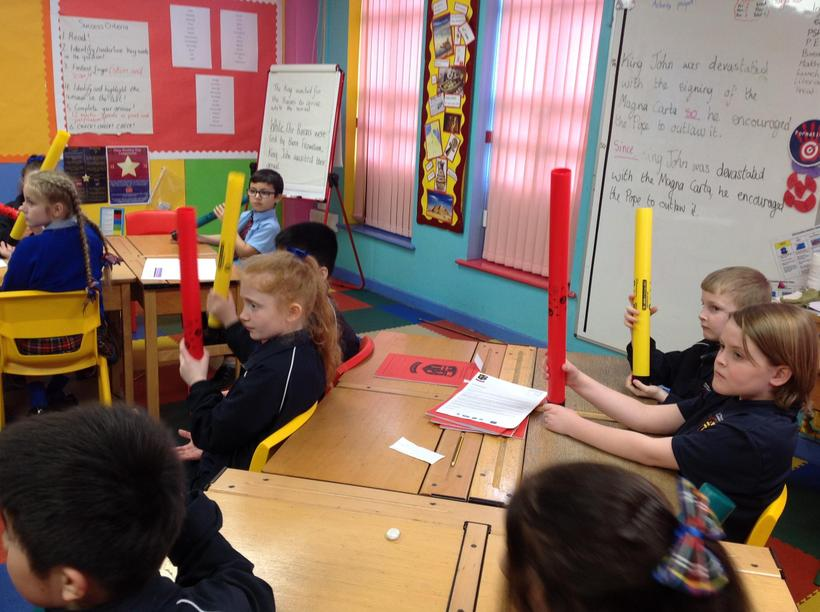Experimenting with our Boomwhackers!