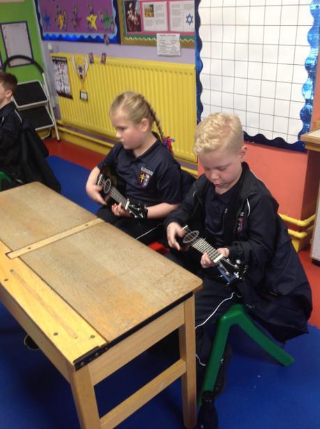 Practising a C chord