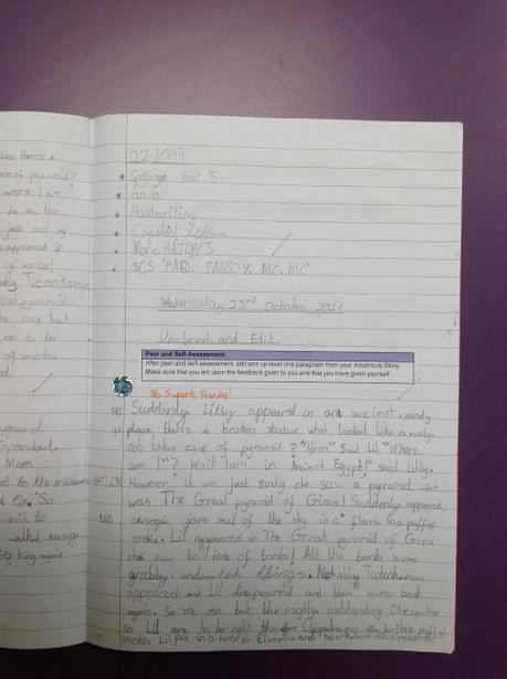 Editing our writing based on feedback.