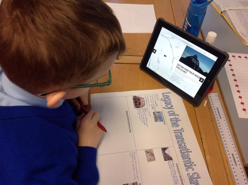 Using an interactive map to research the legacy of the slave trade