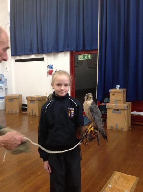 Children holding the birds