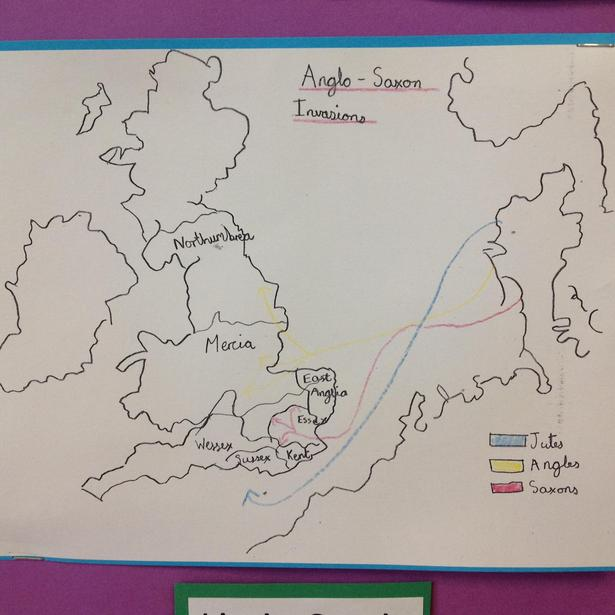 Drawing an Anglo-Saxon invasion map