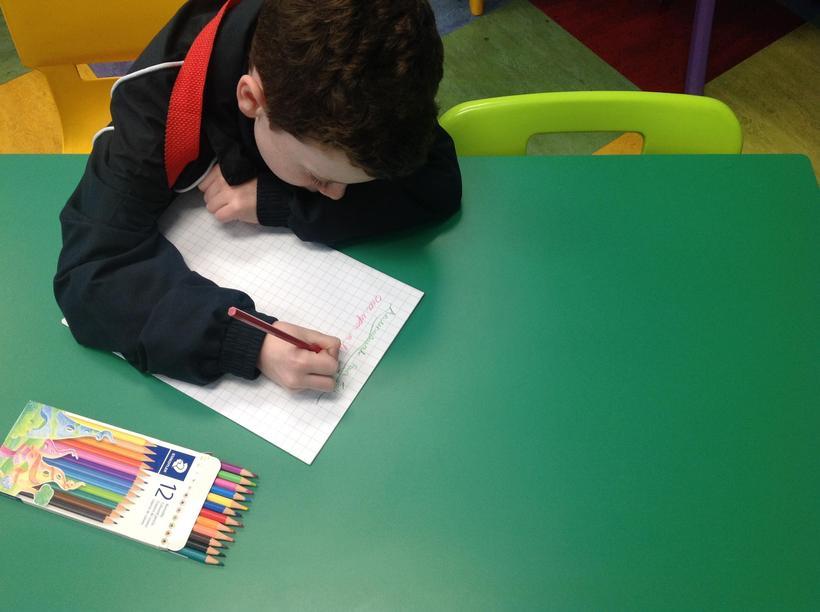 Writing during wet break times