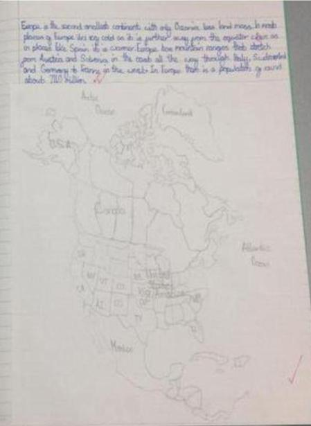 Drawing a map of North America