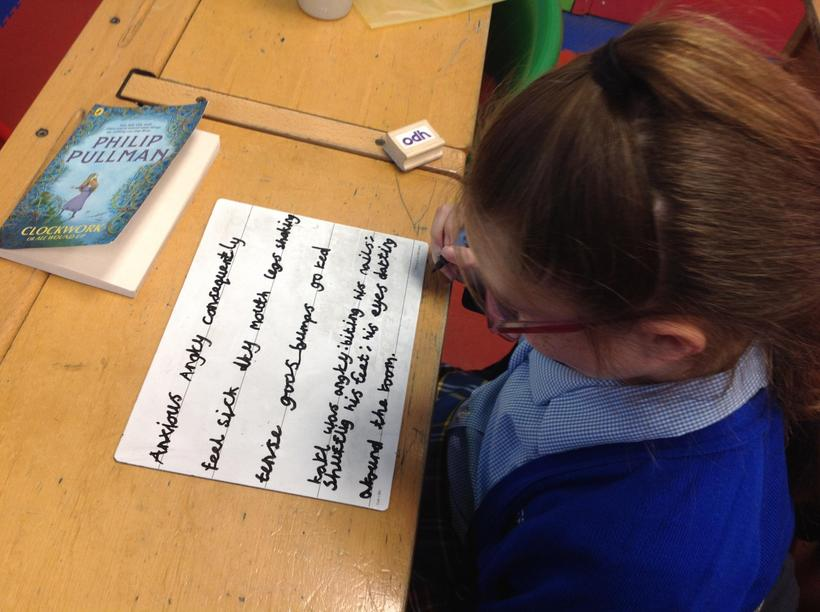 Using high level vocabulary to 'show' feelings