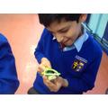 Year 4 - Using a peeler to peel cucumber
