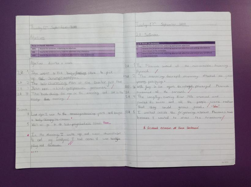 Making use of adjectives and 2A sentences
