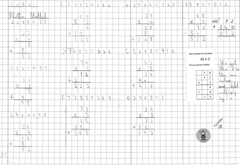 Independent Multiplication: Expanded Column Method