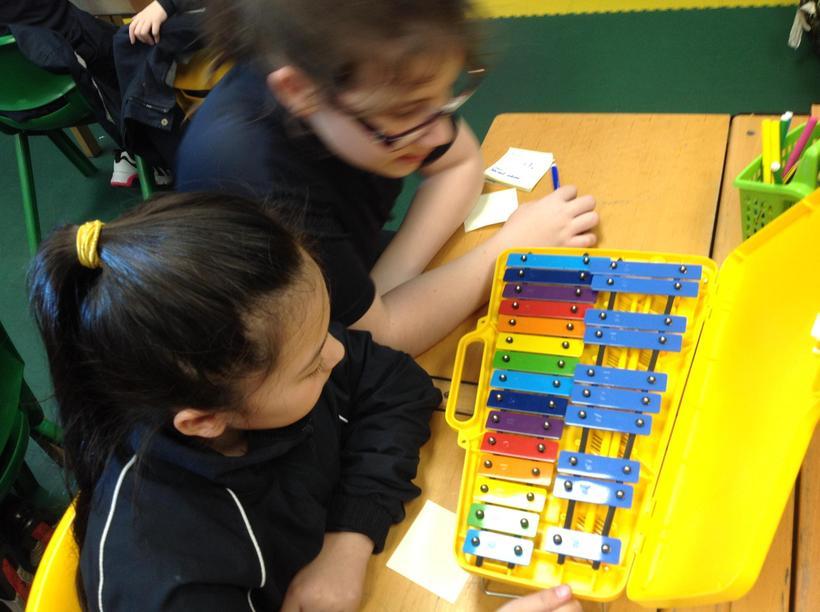 Learning a glockenspiel part